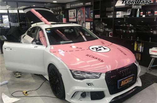 奥迪A7汽车改色贴膜