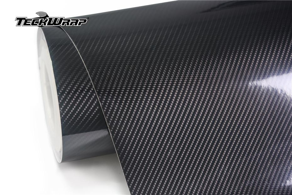 高亮4D黑色碳纤膜汽车保护膜
