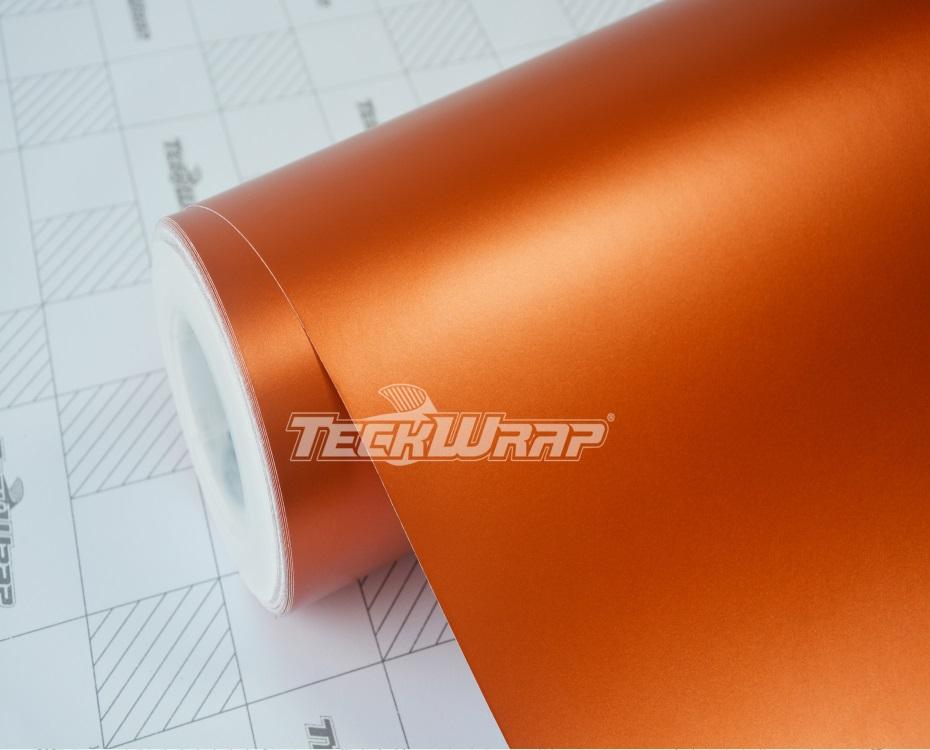 亚面金属橙汽车保护膜
