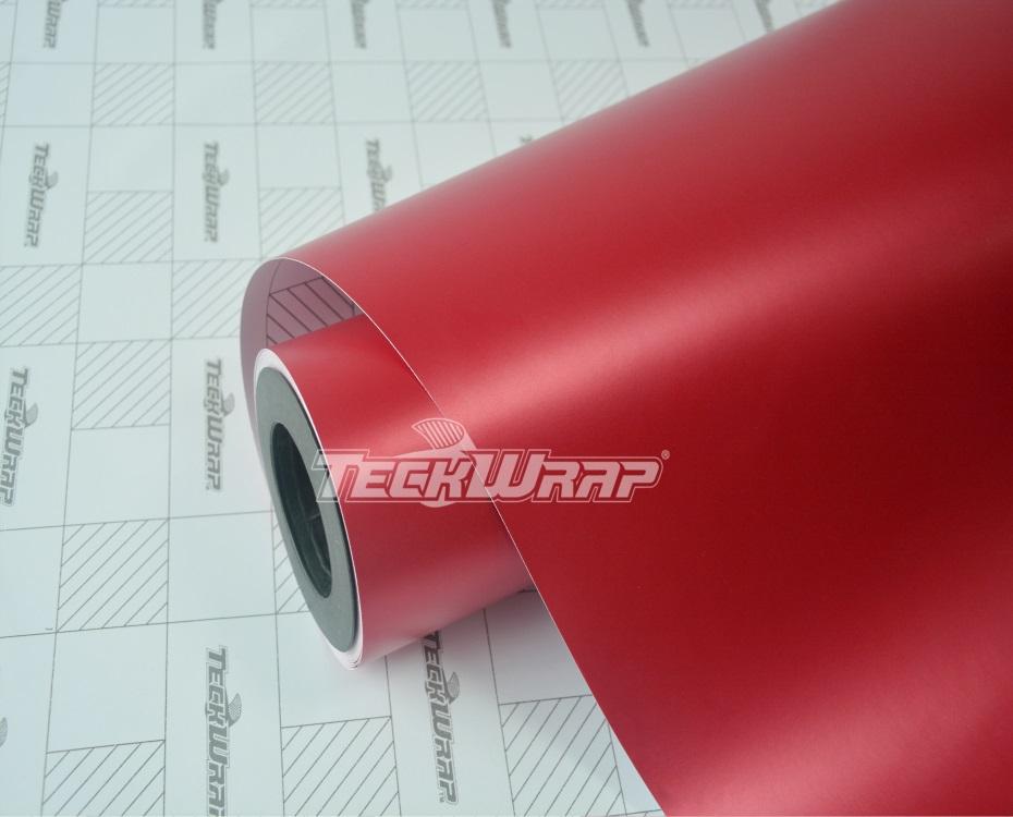 亚面金属红汽车保护膜