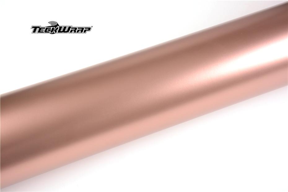 绸缎金属玫瑰金汽车保护膜