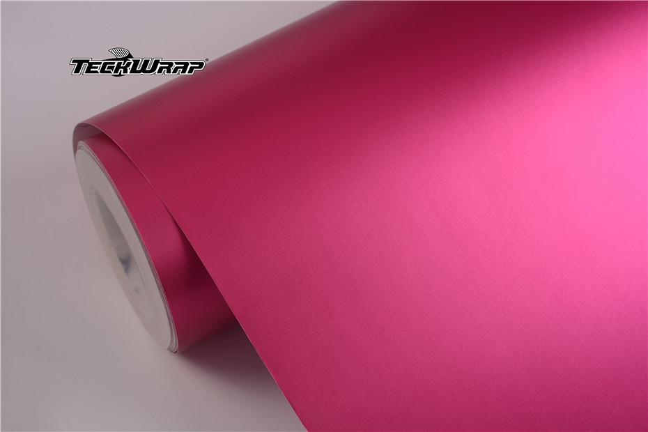 绸缎金属玫红汽车保护膜