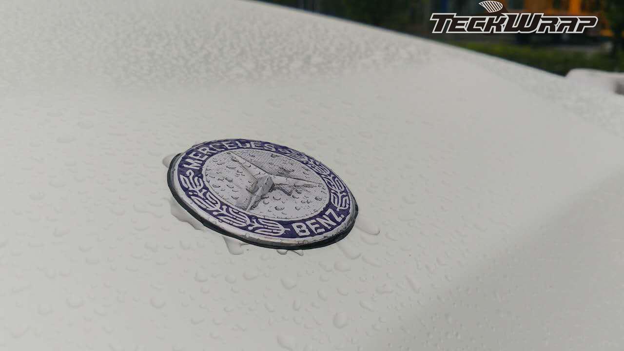 奔驰陶瓷白车身改色