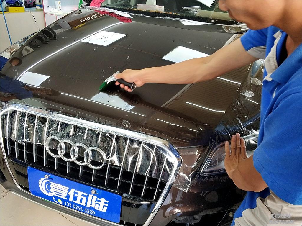 奥迪Q5隐形车衣透明保护膜贴膜效果